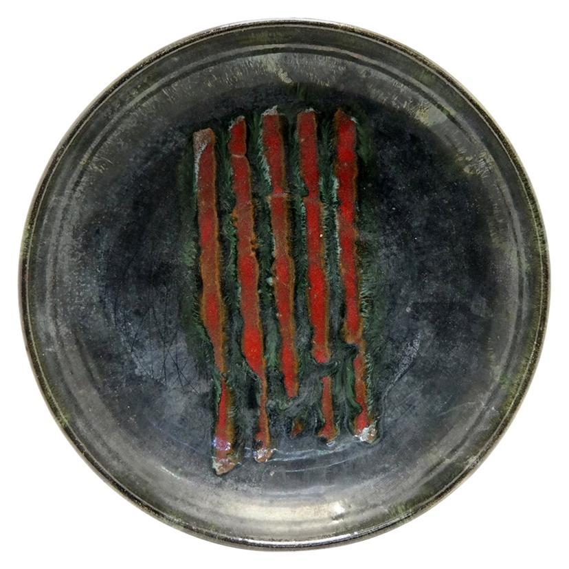 Mid-Century Modern Ceramic Decorative Wall Plate, 1970s