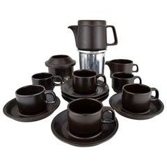 Mid-Century Modern Ceramic Espresso Set by Franco Pozzi