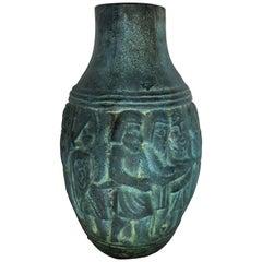 Mid-Century Modern Ceramic Figure Pottery Vase, Spain