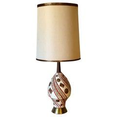 Mid-Century Modern Ceramic Geometric Design Lamp