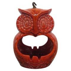 Mid-Century Modern Ceramic Hanging Owl Ashtray