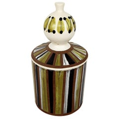 Mid-Century Modern Ceramic Jar with Lid by Roger Capron for Vallauris