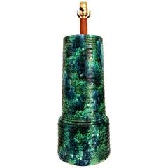 Mid-Century Modern Ceramic Pottery Lamp