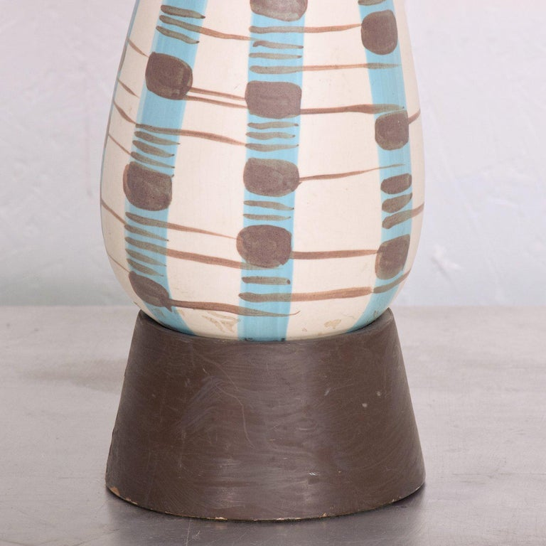 Late 20th Century Mid-Century Modern Ceramic Table Lamp For Sale