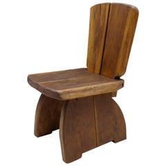 Mid-Century Modern Chair, Minimal Rustic Primitive Style, 1960s