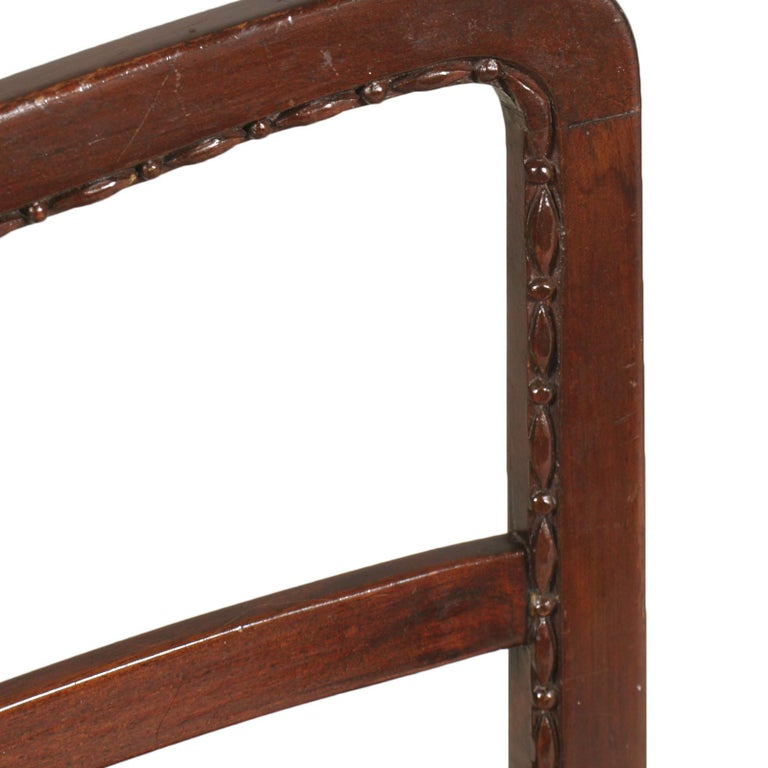 Mid-Century Modern Chair Paolo Buffa Attributed, from Cantù in Carved Mahogany For Sale 3