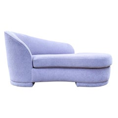 Mid-Century Modern Chaise Lounge Chair by Weiman in Lavender Boucle