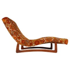 Mid-Century Modern Chaise Lounge Chair in Walnut by Adrian Pearsall
