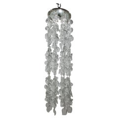 Mid-Century Modern Chandelier by Guisetti for Barovier & Toso, 1970s, Murano