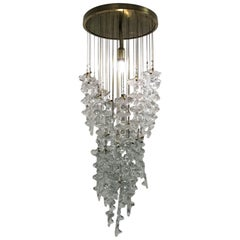 Mid-Century Modern Chandelier by Venini in Murano Glass, Italy, circa 1970