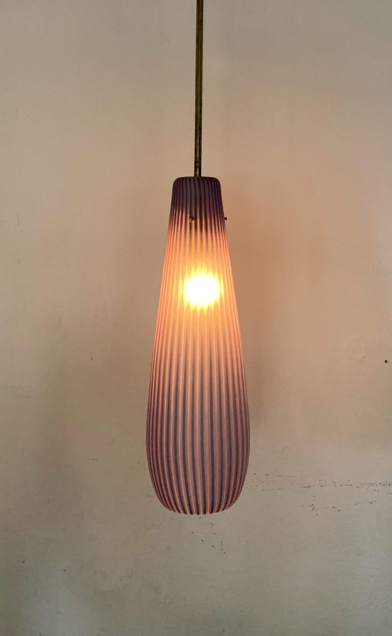 Mid-Century Modern Chandelier in the Style Massimo Vignelli, circa 1960s For Sale 4