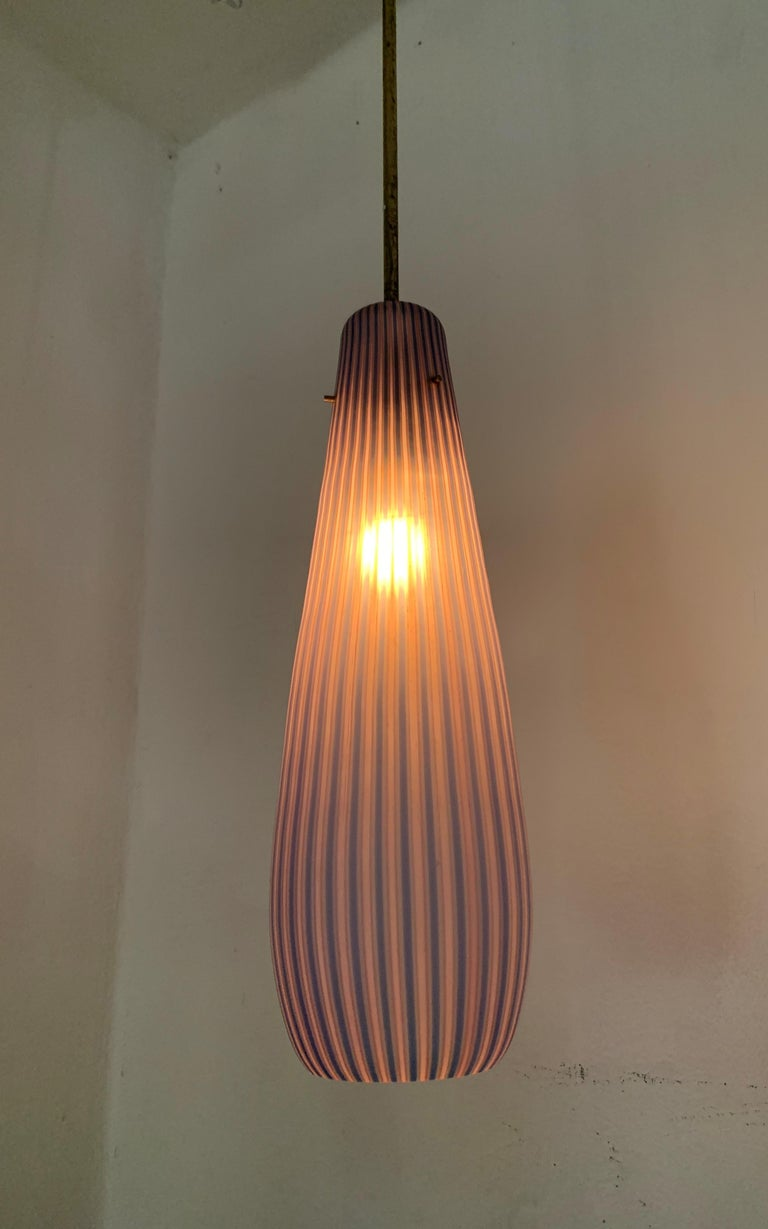 Mid-Century Modern Chandelier in the Style Massimo Vignelli, circa 1960s For Sale 5