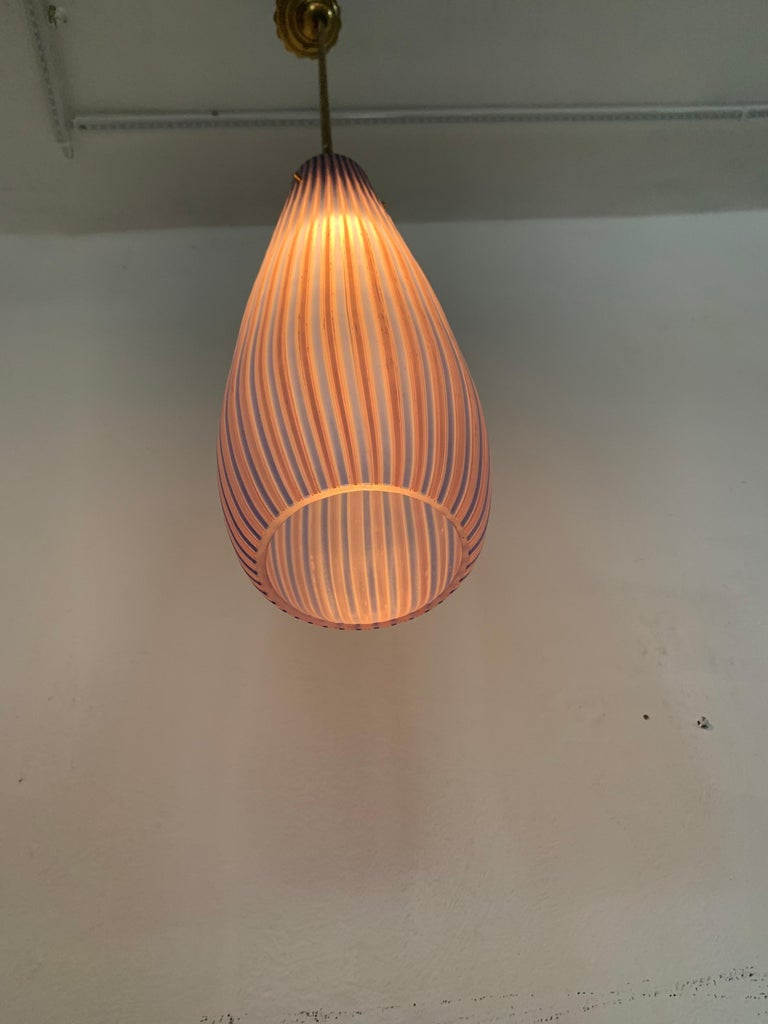 Mid-Century Modern Chandelier in the Style Massimo Vignelli, circa 1960s For Sale 7