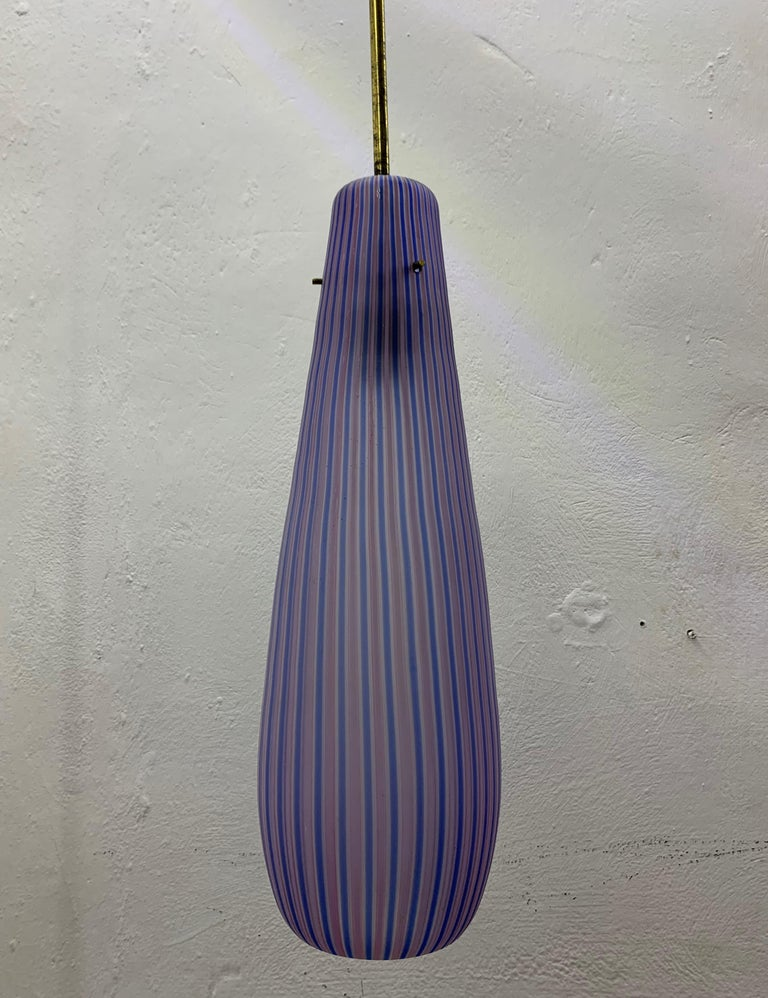 Mid-20th Century Mid-Century Modern Chandelier in the Style Massimo Vignelli, circa 1960s For Sale