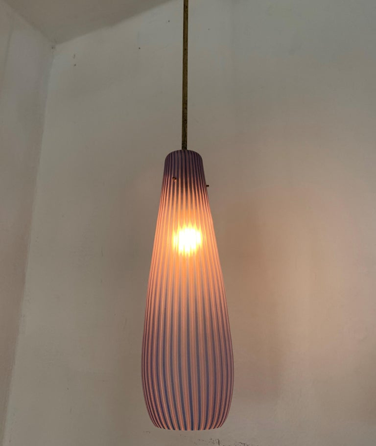 Mid-Century Modern Chandelier in the Style Massimo Vignelli, circa 1960s For Sale 2