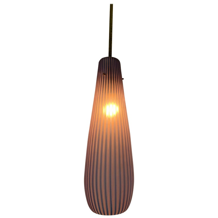 Mid-Century Modern Chandelier in the Style Massimo Vignelli, circa 1960s For Sale
