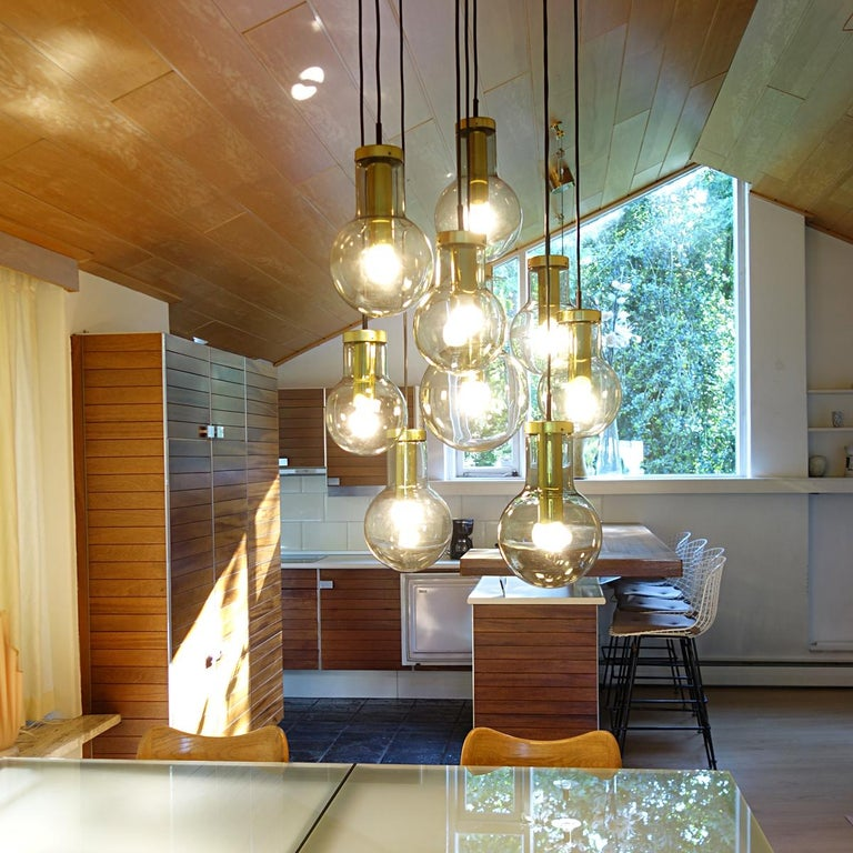 Late 20th Century Mid-Century Modern Chandelier or Pendant