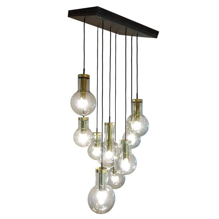 "Mid-Century Modern Chandelier or Pendant ""Cascade Maxi-Globe"" by RAAK Amsterdam For Sale"