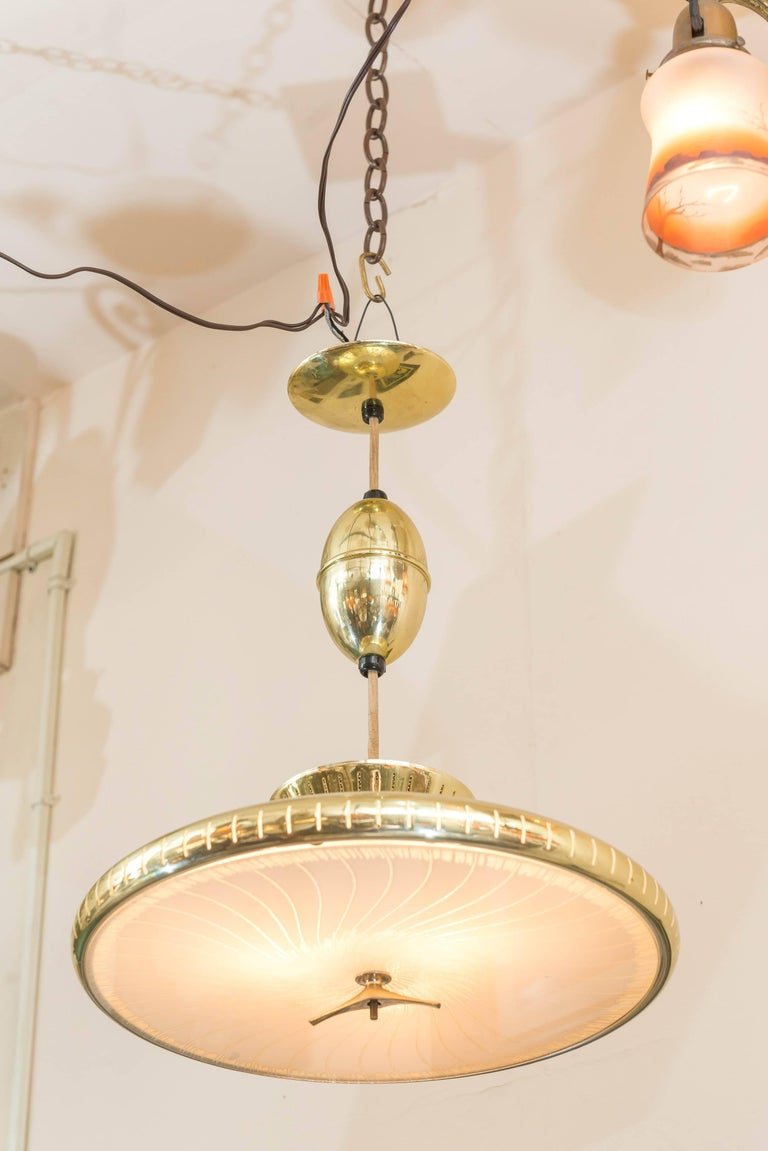American Mid-Century Modern Chandelier or Pendant For Sale