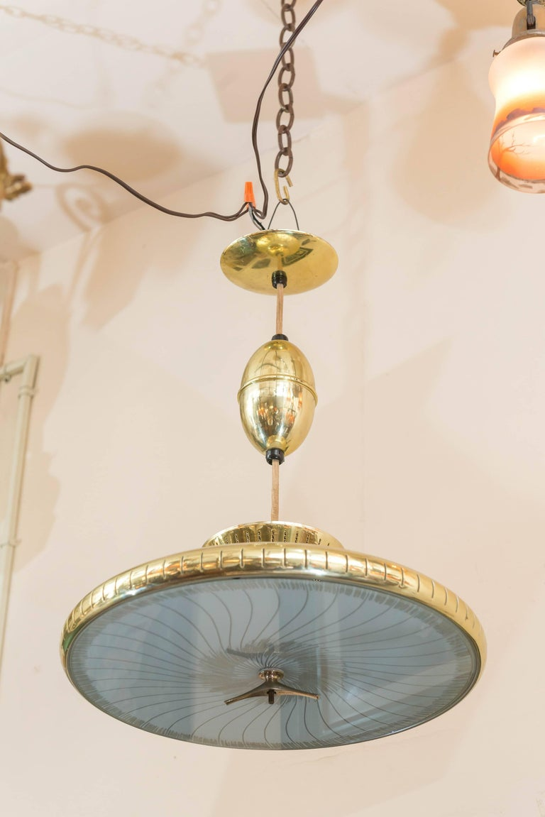 Mid-Century Modern Chandelier or Pendant In Excellent Condition For Sale In San Francisco, CA