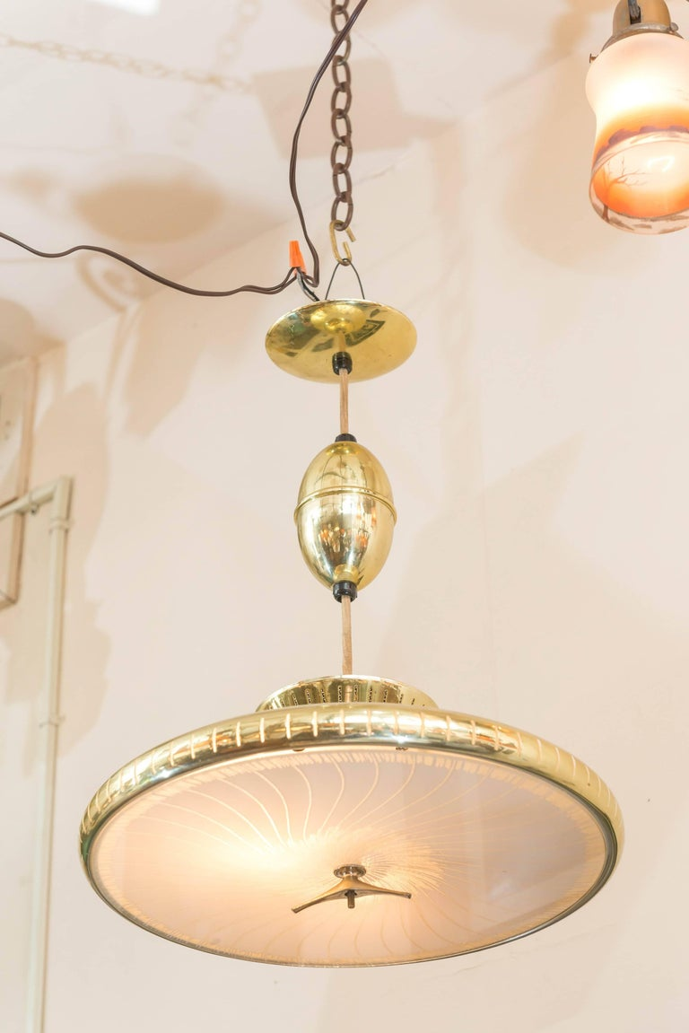 Mid-20th Century Mid-Century Modern Chandelier or Pendant For Sale