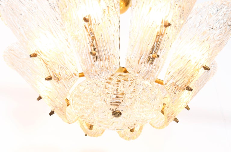Mid-Century Modern Chandelier with Ice Glass by J.T. Kalmar Austria, 1950s For Sale 3