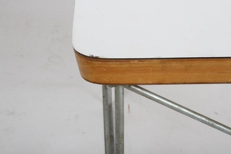 Mid-Century Modern Charles Eames for Herman Miller White Top LTR Tables For Sale 5