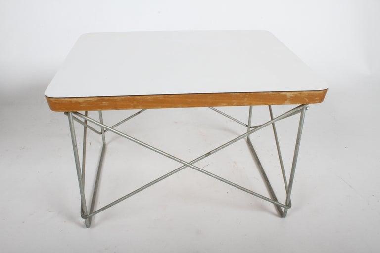 Mid-Century Modern Charles Eames for Herman Miller White Top LTR Tables For Sale 8