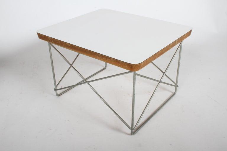 Mid-Century Modern Charles Eames for Herman Miller White Top LTR Tables For Sale 9