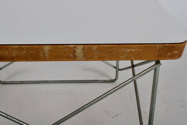 Mid-Century Modern Charles Eames for Herman Miller White Top LTR Tables For Sale 10