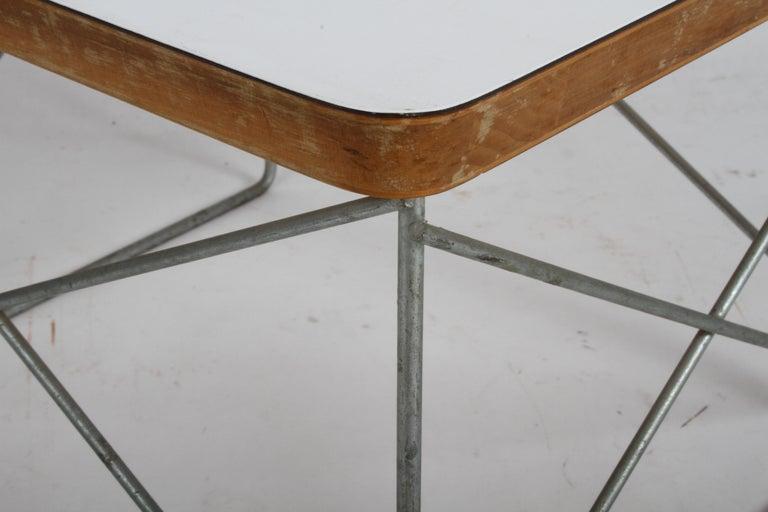 Mid-Century Modern Charles Eames for Herman Miller White Top LTR Tables For Sale 12