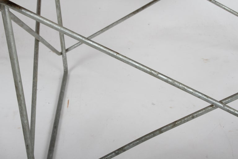 Charles Eames LTR tables by Herman Miller, late 1950s production with white laminated tops, thick birch cores and zinc-plated steel bases. From the estate of a former Herman Miller employee, were I also purchased a Eames Surfboard table, DCMs and a