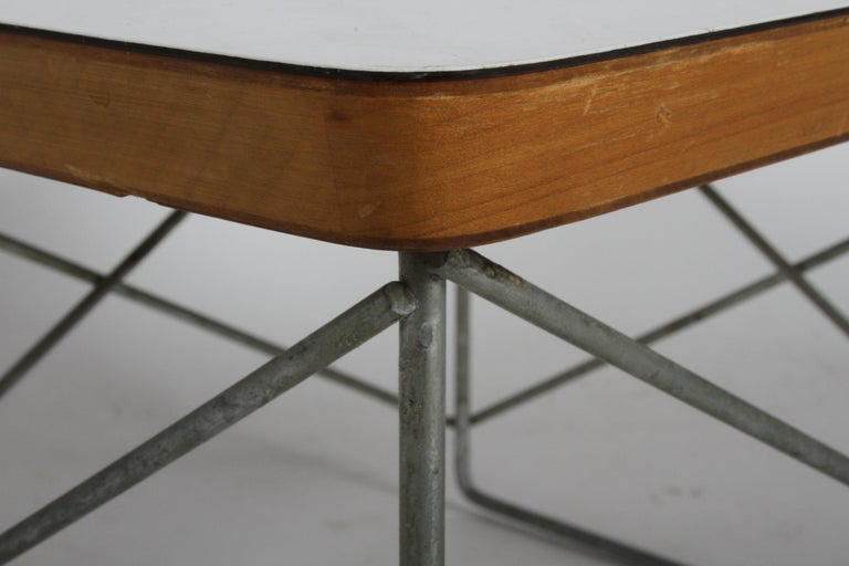 American Mid-Century Modern Charles Eames for Herman Miller White Top LTR Tables For Sale