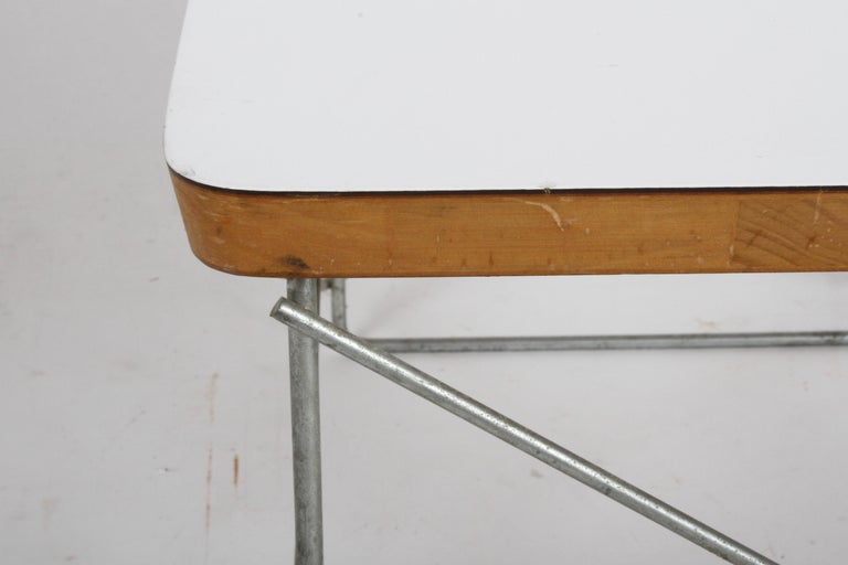 Mid-20th Century Mid-Century Modern Charles Eames for Herman Miller White Top LTR Tables For Sale