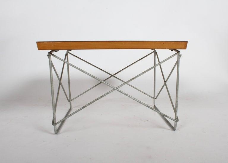 Steel Mid-Century Modern Charles Eames for Herman Miller White Top LTR Tables For Sale