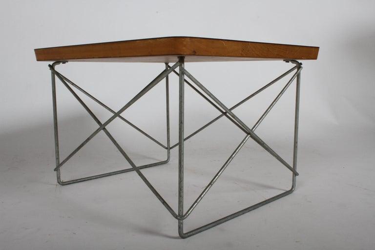 Mid-Century Modern Charles Eames for Herman Miller White Top LTR Tables For Sale 1
