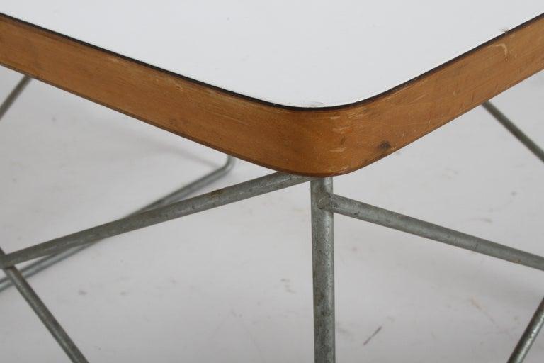 Mid-Century Modern Charles Eames for Herman Miller White Top LTR Tables For Sale 3
