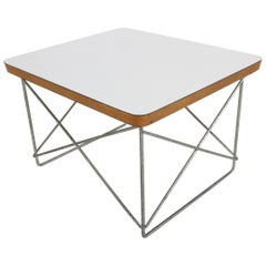 Mid-Century Modern Charles Eames for Herman Miller White Top LTR Tables