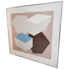 Mid-Century Modern Charles Hinman 1976 Pace Editions Lithograph