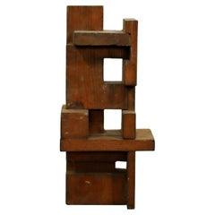 Mid-Century Modern Charles Senseman Cranbrook Constructivism Wood Sculpture