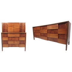 "Mid-Century Modern ""Checkerboard"" Dressers by Edmond Spence"