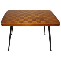 Mid-Century Modern Checkerboard Side Table Vienna, 1950