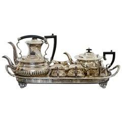 Mid-Century Modern Cheltenham Sheffield 2000 8-Piece Silver Plate Tea Coffee Set