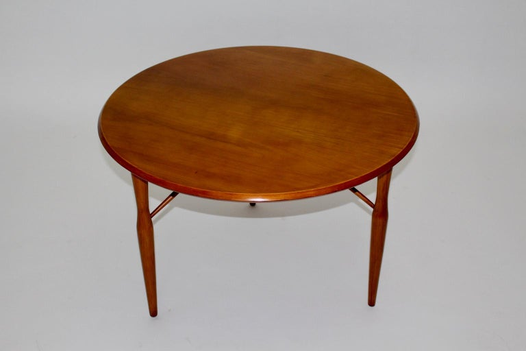 Swedish Mid-Century Modern Cherrywood Coffee Table by Josef Frank attributed Sweden 1950 For Sale