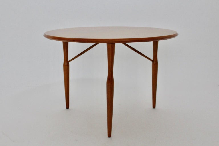 Mid-Century Modern Cherrywood Coffee Table by Josef Frank attributed Sweden 1950 For Sale 1