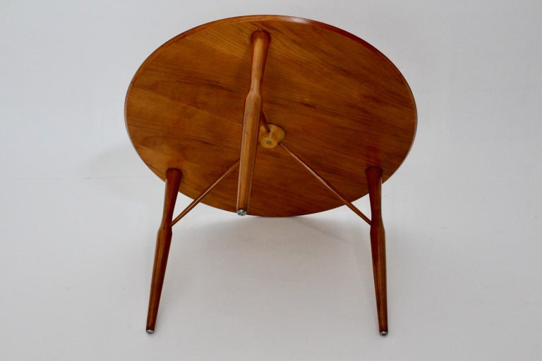 Mid-Century Modern Cherrywood Coffee Table by Josef Frank attributed Sweden 1950 For Sale 2