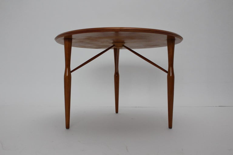 Mid-Century Modern Cherrywood Coffee Table by Josef Frank attributed Sweden 1950 For Sale 3