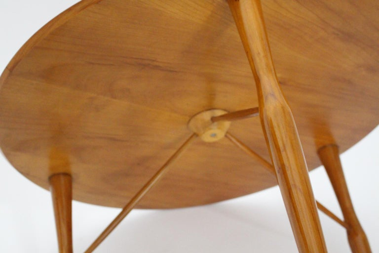 Mid-Century Modern Cherrywood Coffee Table by Josef Frank attributed Sweden 1950 For Sale 4