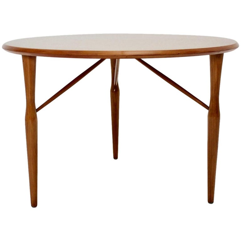 Mid-Century Modern Cherrywood Coffee Table by Josef Frank attributed Sweden 1950 For Sale