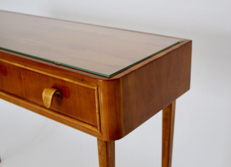 20th Century Mid-Century Modern Vintage Cherrywood Sideboard with drawers Italy, 1950s For Sale